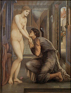 Pygmalion with his woman